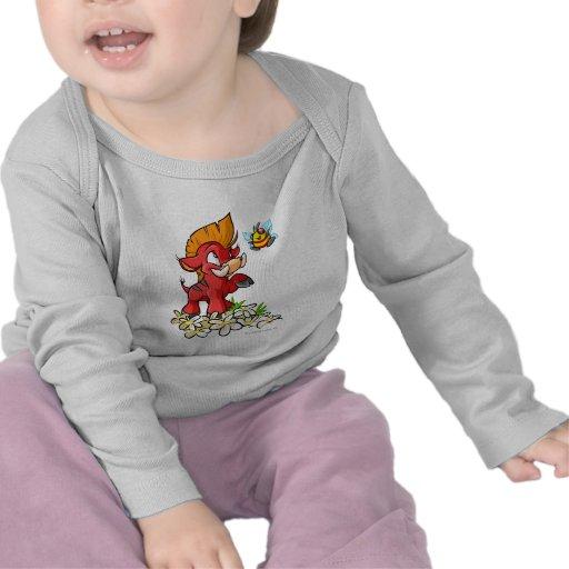 Moehog rojo y zumbido camiseta