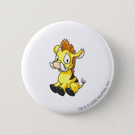 Moehog Yellow Pinback Button