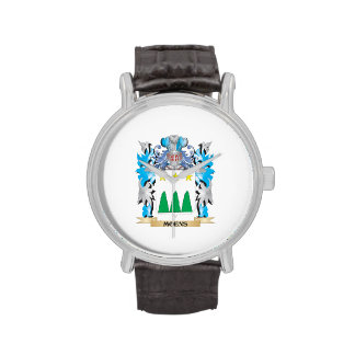 Moens Coat of Arms - Family Crest Wrist Watches