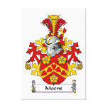 Moens Family Crest Stretched Canvas Prints