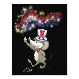 Moe's Happy 4th Of July Night Invitations