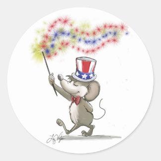 Moe's Happy 4th of July Sticker