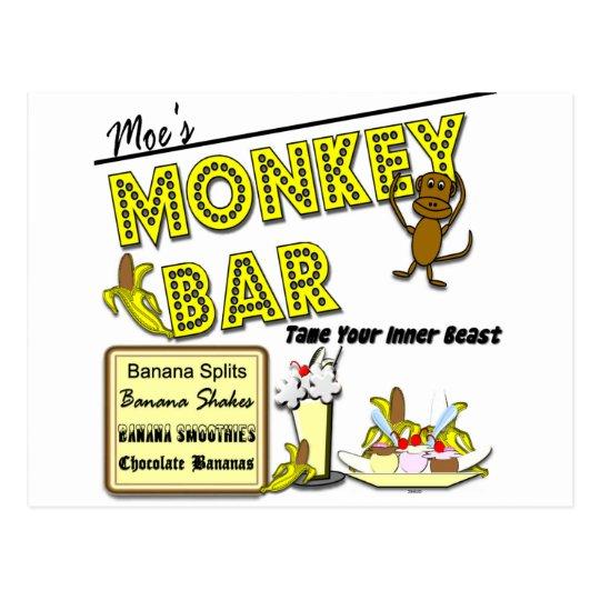 Moe's Monkey Bar Banana Splits Postcard