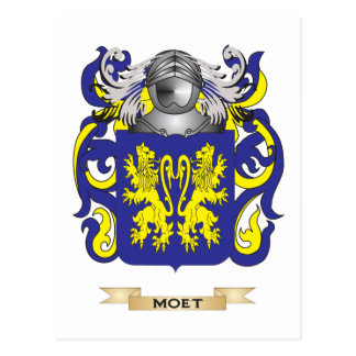 Moet Coat of Arms (Family Crest) Postcard