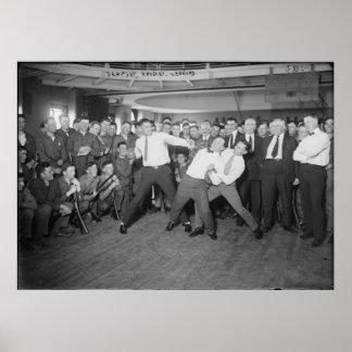 Mofa de Jack Dempsey que lucha contra Harry Houdin Poster