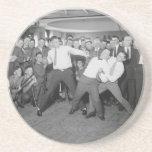 Mofa de Jack Dempsey que lucha contra Harry Houdin Posavasos Para Bebidas
