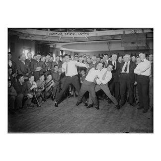 Mofa de Jack Dempsey que lucha contra Harry Houdin Póster