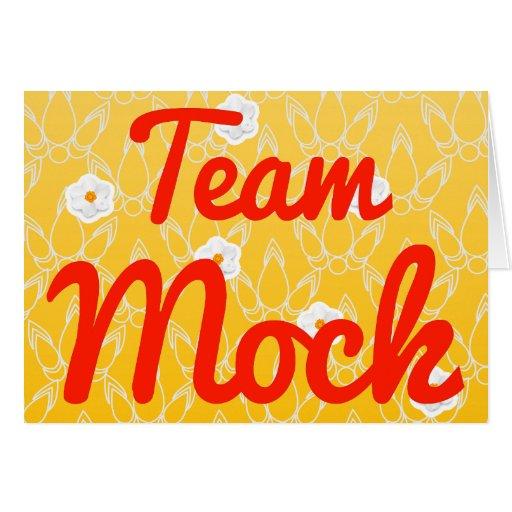 Mofa del equipo tarjeta de felicitación