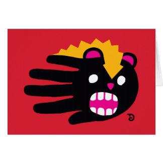 Mofeta como mascota tarjeta de felicitación