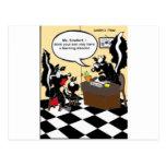 Mofeta que aprende los regalos y las camisetas div tarjetas postales