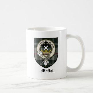 Moffat Clan Crest Badge Tartan Coffee Mug