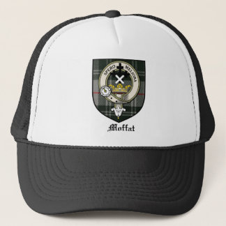 Moffat Clan Crest Badge Tartan Trucker Hat