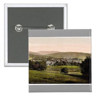 Moffat from Coates Hill, Scotland classic Photochr Pinback Button