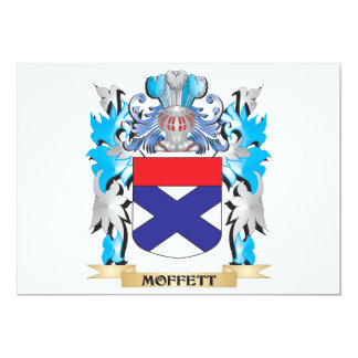 "Moffett Coat of Arms - Family Crest 5"" X 7"" Invitation Card"