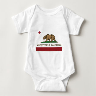 Moffett field california flag baby bodysuit