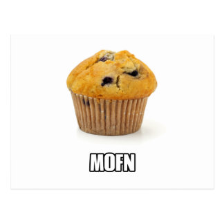 MOFN - Humorously misspelled Muffin Postcard