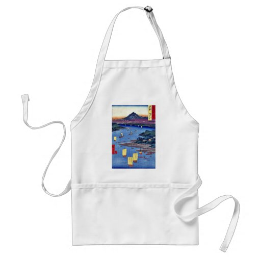 Mogami River and Gassan mountain by Ando,Hiroshige Apron