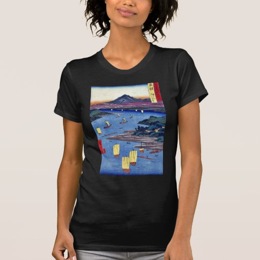 Mogami River and Gassan mountain by Ando,Hiroshige Shirt