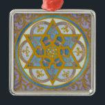 "Mogen David Chanukah Ornament<br><div class=""desc"">Rich swirls reminiscent of medieval illuminations adorn this elegant Chanukah ornament</div>"