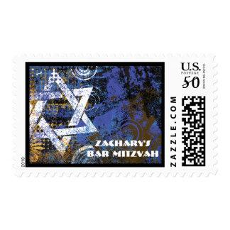Mogen David Star Bar Mitzvah Postage Stamp