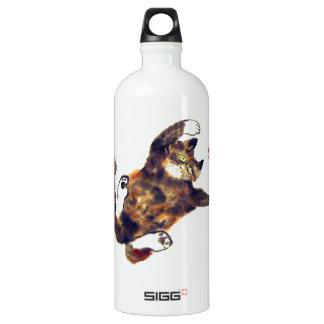 Moggie Merriment for the Calico Kitten Water Bottle