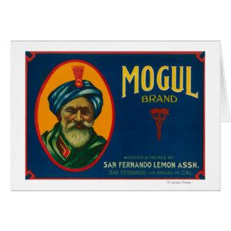 Mogul Lemon LabelSan Fernando, CA Greeting Card