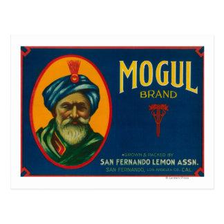 Mogul Lemon LabelSan Fernando, CA Post Card