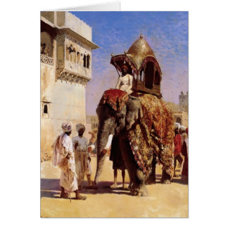 Mogul's Elephant by Edwin Lord Weeks Card