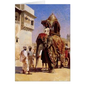 Mogul's Elephant by Edwin Lord Weeks Greeting Card