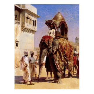 Mogul's Elephant by Edwin Lord Weeks Post Cards