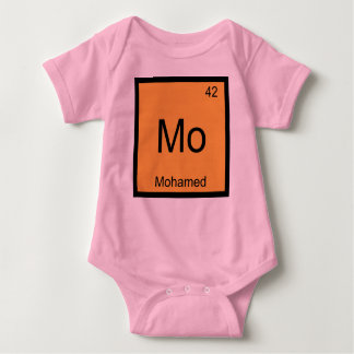 Mohamed Name Chemistry Element Periodic Table Baby Bodysuit