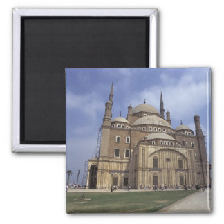 Mohammed Ali Mosque at the Citadel of Cairo, 2 2 Inch Square Magnet