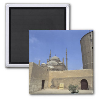 Mohammed Ali Mosque at the Citadel of Cairo, 2 Inch Square Magnet