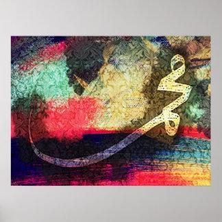 Mohammed (pbuh), caligrafía moderna… poster