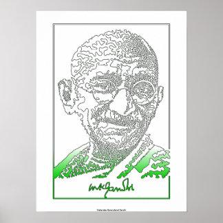 Mohandas Gandhi. Ideological leader of India [009 Poster