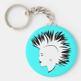 Mohawk Basic Round Button Keychain