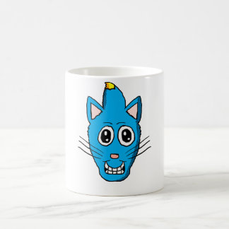 Mohawk Blue Cat mug