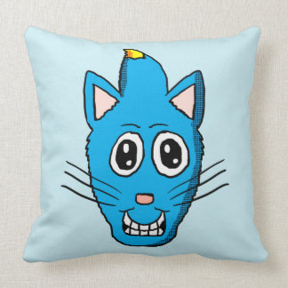 Mohawk Blue Cat Pillow