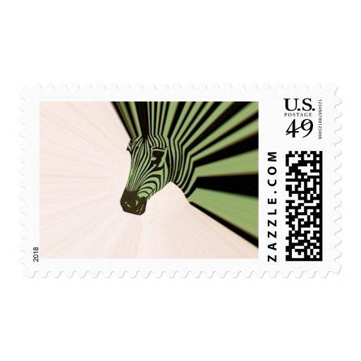 mohawk de la cebra timbre postal