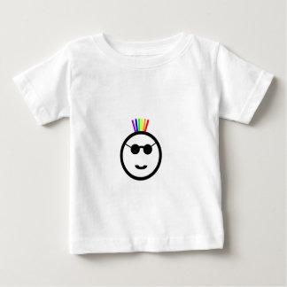 Mohawk del arco iris playera de bebé
