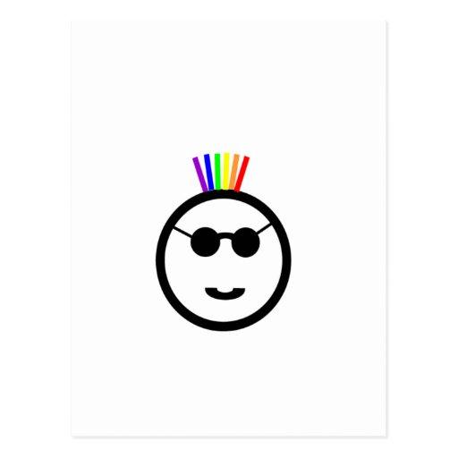 Mohawk del arco iris postales