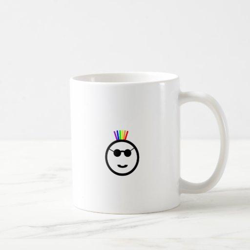 Mohawk del arco iris taza clásica