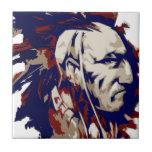 Mohawk del nativo americano azulejo