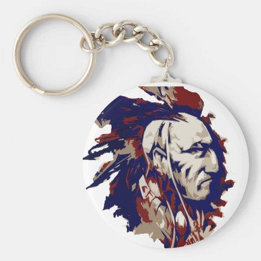Mohawk del nativo americano llavero