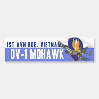 Mohawk del veterano de Vietnam Etiqueta De Parachoque