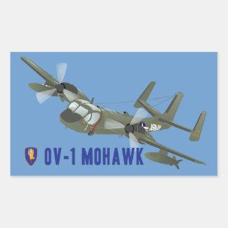 Mohawk del veterano de Vietnam Rectangular Pegatina