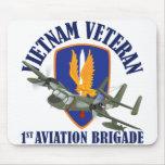 Mohawk del veterano de Vietnam Alfombrilla De Raton