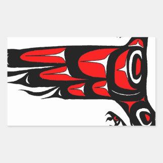 MOHAWK EAGLE RECTANGULAR STICKER