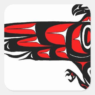 MOHAWK EAGLE SQUARE STICKER