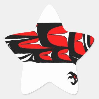 MOHAWK EAGLE STAR STICKER